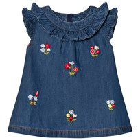 Mayoral Denim Dress with Embroidered Flowers 5