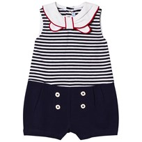 Mayoral Navy Stripe with Sailor Collar Playsuit 62