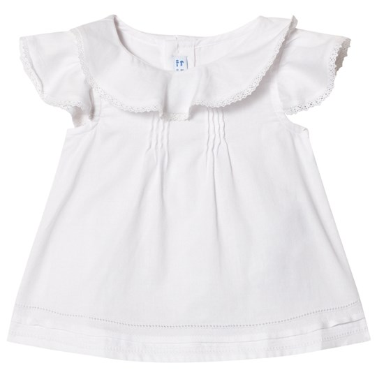Mayoral White Ruffle Collar and Frill Sleeve Blouse 11