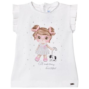 Image of Mayoral Girl Graphic Tee White 6 months (2950171765)