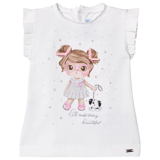 Mayoral Girl Graphic Tee White 83