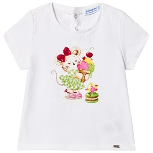 Image of Mayoral Mouse and Ice Cream Tee White 36 months (2950171927)