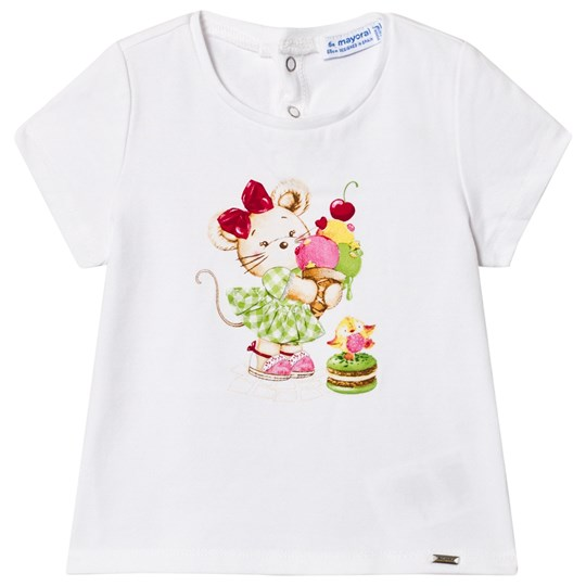Mayoral Mouse and Ice Cream T-shirt Vit 68