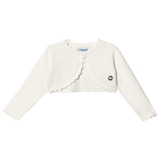 Mayoral Cream Basic Knit Cardigan 89