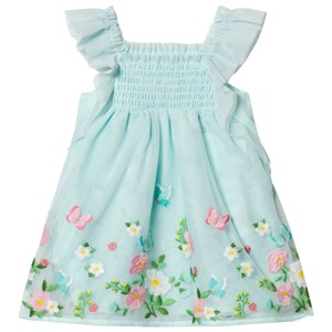 Image of Mayoral Aqua Embroidered Tulle Dress 24 months (3065507299)