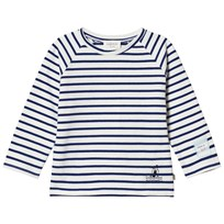 Carrément Beau Blue and White Stripe Long Sleeve Tee N58