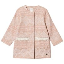 Carrément Beau Pale Pink and Gold Lurex Embroidered Coat N52