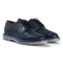Paul Smith Junior Navy Leather Brogue Shoes 492