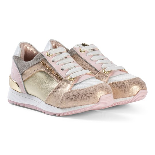 Michael Kors Branded Zia Allie Say-T Sneakers Rosa/Guld Pink and Gold