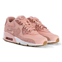 NIKE Coral Stardust Pink and White Nike Air Max Leather Shoes 601