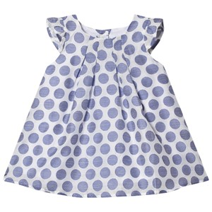 Image of Absorba Blue and White Spot Dress 9 months (3019783683)