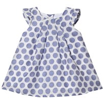 Absorba Blue and White Woven Spot Dress 04