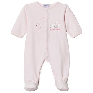 Image of Absorba Velour Printed Babygrow Pink 1 month (2950170977)