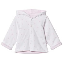 Absorba White and Pale Pink Reversible Spot and Stripe Hooded Jacket 31