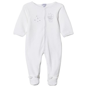 Image of Absorba Cat Print and Stars Footed Baby Body White 12 months (2950171549)