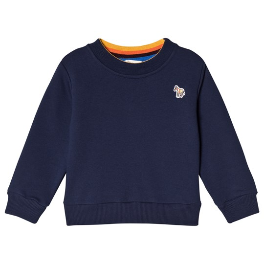 Paul Smith Junior Navy and Blue Sweater Zebra Branding 492