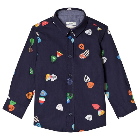 Paul Smith Junior Navy Plectrum Print Shirt 492