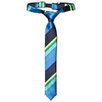 Paul Smith Junior Navy Multi Stripe Tie 492