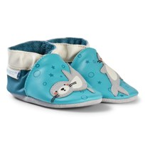 Robeez Turquoise Sea Lions Sea Lion Leather Crib Shoes Turquoise/Turquoise