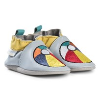Robeez Blue Beach Ball Leather Crib Shoes Bleu clair/Light blue