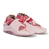 Robeez Pink Flamingo Leather Crib Shoes Rose/Pink