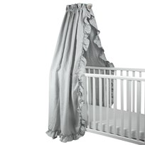 NG Baby Drape for Crib/Cot/Cotbed Mood Ruffles Light Grey Light Grey