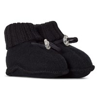 Joha Sleeping Booties Black Wool Black wool