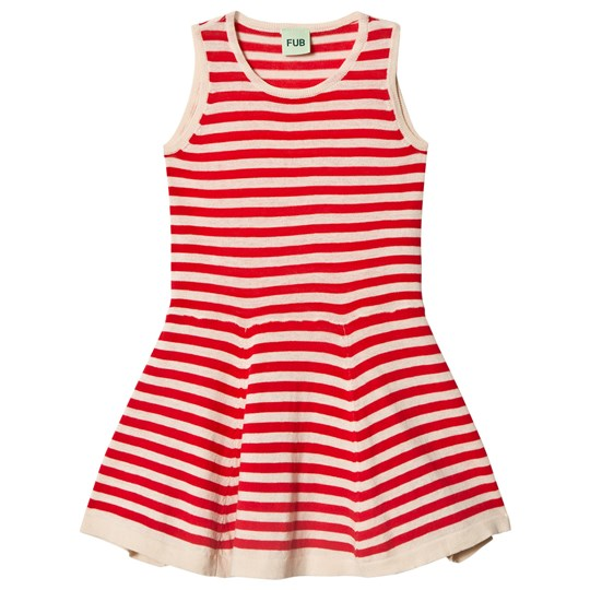 FUB Striped Dress Ecru/Red ecru/red