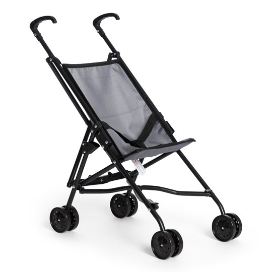 STOY Dolls Mini Buggy Stroller Grey Black