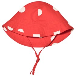 Mini Rodini Dot Sun Hat Red