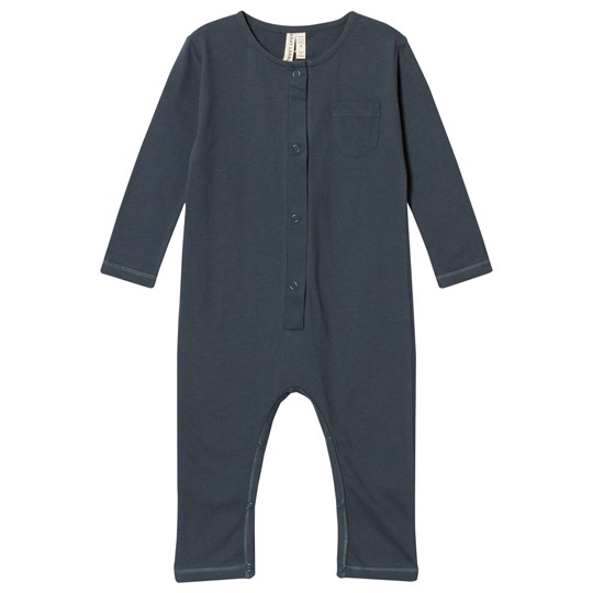 Gray Label L/S Playsuit Blue Grey Grey Melange