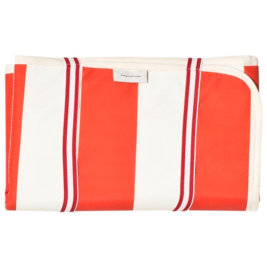 Tinycottons Stripes Baby Changer Off-White/Carmine off-white/carmine