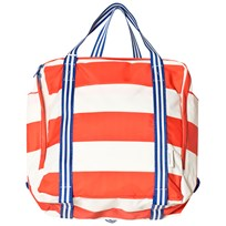 Tinycottons Stripes Backpack Off-White/Carmine off-white/carmine