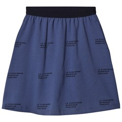 Tinycottons ´Le Concierge´  Mid-Length Skirt Light Navy/Navy