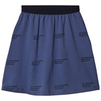Tinycottons ´Le Concierge´  Mid-Length Skirt Light Navy/Navy light navy/navy