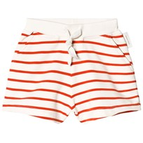 Tinycottons Small Stripes Shorts Off-White/Carmine off-white/carmine
