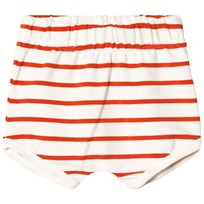 Tinycottons Small Stripes Bloomers Off-White/Carmine off-white/carmine