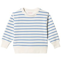Tinycottons Small Stripes Sweatshirt Off-White/Cerulean Blue off-white/cerulean blue