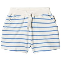 Tinycottons Small Stripes Shorts Off-White/Cerulean Blue off-white/cerulean blue