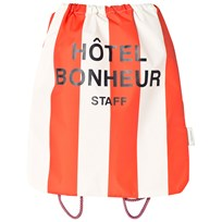 Tinycottons Stripes Beach Bag Off-White/Carmine off-white/carmine