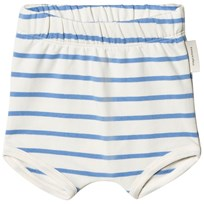 Tinycottons Small Stripes Bloomers Off-White/Cerulean Blue off-white/cerulean blue