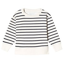Tinycottons Small Stripes Sweatshirt Off-White/Navy off-white/navy
