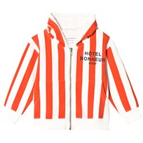 Tinycottons Hôtel Bonheur Staff Graphic Hoodie Off-White/Carmine/Navy off-white/carmine/navy