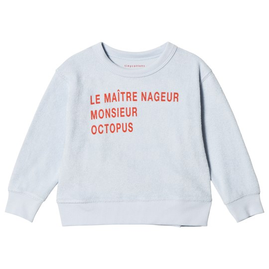 Tinycottons Le Maitre Nageur Terry Sweatshirt Light Blue/Carmine light blue/carmine
