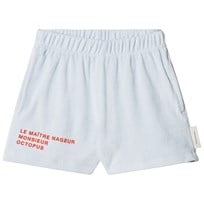 Tinycottons Le Maitre Nageur Terry Shorts Light Blue/Carmine light blue/carmine