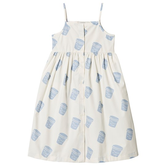 Tinycottons Pots Dress Off-White/Light Cerulean Blue off-white/light cerulean blue
