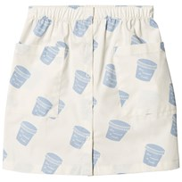 Tinycottons Pots Button Down Kjol Off-White/Light Cerulean Blue off-white/light cerulean blue