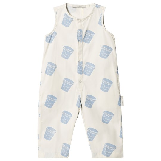 Tinycottons Pots Jumpsuit Off-White/Light Cerulean Blue off-white/light cerulean blue