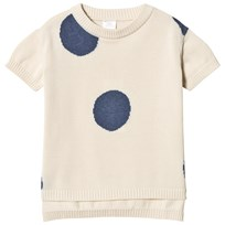 Tinycottons Dots Sweater Off-White/Light Navy off-white/light navy
