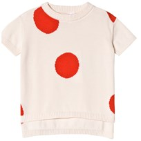 Tinycottons Dots SS Sweater Light Pink/Carmine light pink/carmine
